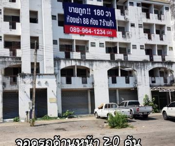 ขายอพาร์ทเม้นท์ 5 ชั้น เนื้อที่ 180 ตรว. เต็มพื้นที่ ชั้น 2 -4 มีห้องเช่า 88 ห้อง มีห้องน้ำในตัวทุกห้อง มีร้านค้าชั้นล่างอีก 7 ห้อง